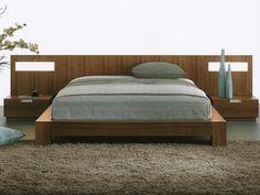 "Mobican ""Stella"" platform bed in Walnut.  Platform beds are my fav."