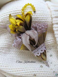 Цветы из кожи и шелка Елены Картошкиной.: Винтажные зонтики из бархата.