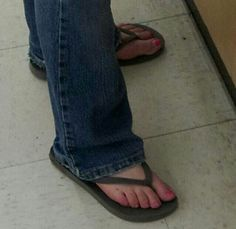 Candid flip flops