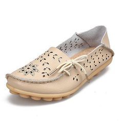 c358cea4ec341 Women s Casual Genuine Leather Shoes Woman Loafers Slip-On Female Flats  Moccasins Ladies Driving Shoe Cut-Outs Mother Footwear