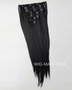 18'' High Quality Straight Clip In Hair Extension Black #2 900B-2-45 - $19.99 : wigs outlet