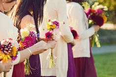 love the idea of bridesmaids in cardigans bc i almost always wear one!