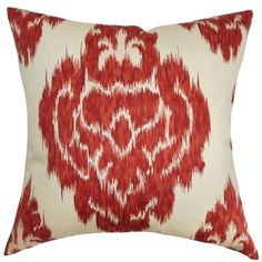 Ajayi Red Ikat Down Filled Throw Pillow | Overstock.com Shopping - Great Deals on PILLOW COLLECTION INC Throw Pillows