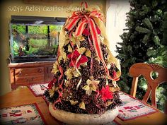 Pinecone Christmas Tree Tutorial Get bags of scented pinecones when on sale, it will smell great and look great (RM)