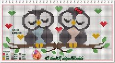 Owl perler bead pattern~ this would be a cute cross stitch for a gift table or guest book table at a wedding! Cross Stitch Owl, Cross Stitch Animals, Cross Stitch Designs, Cross Stitching, Cross Stitch Embroidery, Embroidery Patterns, Cross Stitch Patterns, Beading Patterns, Owl Patterns