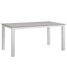 """LexMod - Maine 63"""" Outdoor Patio Dining Table"""