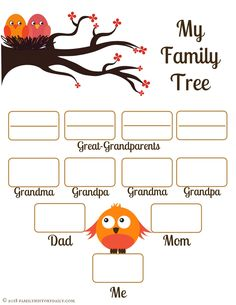 Free Family Tree Template for Kids' School Project