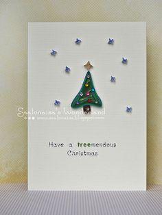 Christmas Tree  paper quilling greeting card green by szalonaisa, $7.50