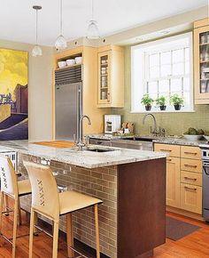 Small Kitchen 6: Warm, Modern Palette