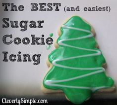 You will not find an easier sugar cookie icing recipe! All you need is milk and powdered sugar.