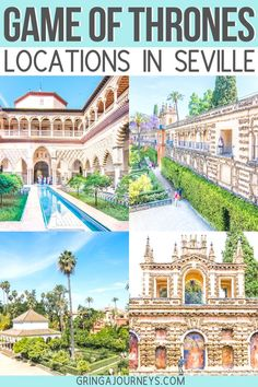 In this article, I'll be listing the exact Game of Thrones Seville filming locations. I'll also include some locations that are just outside of Seville! seville spain spaintravel sevilletravel seville got gameofthrones 230668812455608968 Europe Destinations, Europe Travel Guide, Travel Guides, Travel Checklist, Travel Essentials, Budget Travel, Oregon, Tenerife, Camping