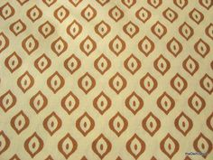 Indian Fine Soft Cotton Block Print Fabric in Cream and brown Sold by Yard via Etsy