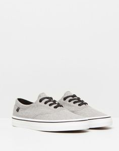 Pull&Bear - woman - women's footwear - casual plimsolls - grey - 15750011-I2015