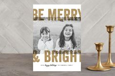 Bold Snow Holiday Photo Cards