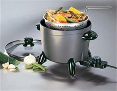 Electric Multi-Cooker / Steamer Slow Cooker Pot Roaster Presto Options for sale online Best Multi Cooker, Electric Deep Fryer, Electric Steamer, Electric Cooker, Kitchen Cooker, Frying Oil, Deep Frying, Air Frying