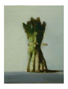 green | spring vegetables: aspargus . Frühlings-Gemüse: Spargel . légumes de printemps: asperge | artist / Künstler: Stanley Bielen |