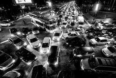 Picture of traffic jam in Kuala Lumpur, Malaysia