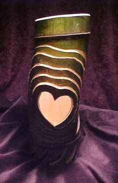 Heart Throb Bamboo Sculpture - unfinished - Bamboo Arts and Crafts Gallery Bamboo Lamps, Bamboo Light, Bamboo Art, Bamboo Crafts, Bamboo Garden, Bamboo Decoration, Bamboo Ideas, Beautiful Hearts, Bamboo Architecture