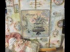Sublimado sobre azulejos - Deco Scrap - Sellos - Patricia Fernandez - YouTube Decoupage, Arts And Crafts, Diy Crafts, Pintura Country, Book Art, Stencils, Vintage World Maps, Mosaic, Embroidery