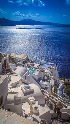 Oia white & blue, Santorini, Greece                                                                                                                                                                                 More