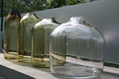 Nesting and layering #design prototype by Jon Otis for #GlassLab, July 2012 #glass #cmog