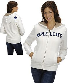 NHL Rinkside Toronto Maple Leafs Women's Jacket with Sweater Lined Hood-NHL Shop Exclusive - Shop.Canada.NHL.com Nhl Shop, Hooded Sweatshirts, Hoodies, Toronto Maple Leafs, Team Apparel, Adidas Jacket, Hockey, Hooded Jacket, Jackets For Women