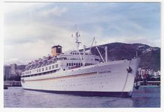 Costa cruises' Enrico Costa, built in 1952 as the french liner Provence, and sold in the to Costa and initially renamed Enrico C until the Costa, Vera Cruz, Cruise Ships, Cruises, Sailing Ships, Provence, 1980s, Nautical, Goodies