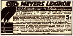 Original-Werbung/ Anzeige 1926 - MEYERS LEXIKON / MOTIV EULE  - ca. 120 x 60 mm