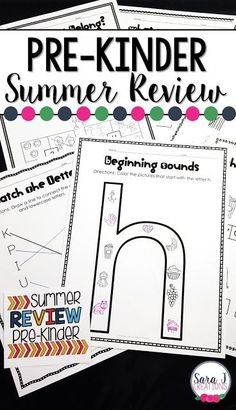 Pre-K Summer Review packet includes 100 pages of no prep work to help prevent summer slide.  Some of the topics covered include number and letter ID, counting, addition, sequencing numbers, rhyming words and more! Summer Homework, Summer Slide, Summer Work, Preschool Learning, Preschool Writing, Math Literacy, Kindergarten Prep, Summer Reading Program, Rhyming Words