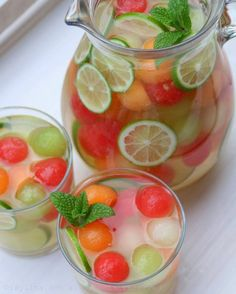 Sounds wonderful and very refreshing but it isn't sangria. Sangria has wine in it. Cocktails To Try, Summer Cocktails, Cocktail Drinks, Cocktail Recipes, Margarita Recipes, Whiskey Cocktails, Refreshing Drinks, Fun Drinks, Beverages