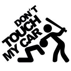 1 x 2 forcé autocollant Don /'t touch it des autocollants shocker Dub sticker tuning