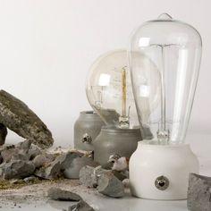 Moulded Cement Lamp by Better Mix Design Studio | MONOQI