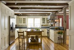 I need this kitchen...soapstone counters and sinks, beautiful cabinets...just delicious!