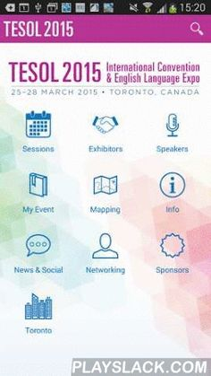 2015 TESOL Convention  Android App - playslack.com , The mobile app for the 2015 TESOL International Convention & English Language Expo is completely redesigned for 2015. New features include: -Link between the desktop portal and all your devices.-Full search of all sessions, speakers, and exhibitors-Create your own profile, search and message other attendees-download session handouts-provide direct feedback on all sessions And of course a fully interactive exhibit hall map, convention…