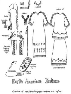 Paper Dolls of Ancient Native Americans