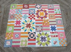 Improv Stars and Stripes Quilt