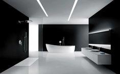 33 Stunning Modern Bathroom Ceiling Lights For Cozy Bathroom Ideas Minimalist Bathroom Design, Minimal Bathroom, Modern Bathroom Design, Bathroom Interior Design, Bathroom Designs, Bathroom Ideas, Bath Design, Minimalist Design, Shower Ideas