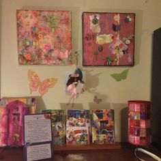Original mixed media, Soul Collage and Mizrach made by fellow artist and dear friend, Laura Hegfield.