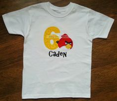 Personalized Angry Bird Shirt