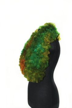 Long, warm and luxury felted scarf collar. Very soft, fur free ahimsa collar scarf.  Fine accessory for yourself or as an unique handmade gift!