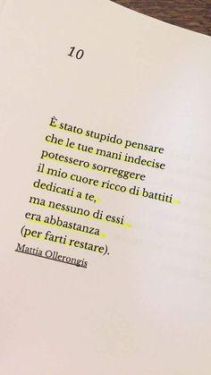 Un numero a caso. - Un numero a caso. Some Quotes, Words Quotes, Sayings, Italian Quotes, Memories Quotes, Tumblr Quotes, Dream Quotes, Love Words, Sentences