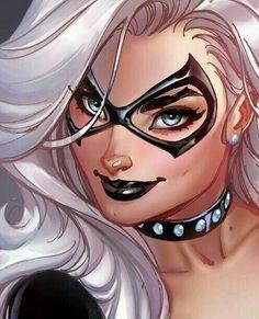Black Cat by Scott Campbell Marvel Dc, Marvel Comics, Comics Anime, Marvel Women, Marvel Girls, Comics Girls, Marvel Heroes, Marvel Females, Comic Book Characters