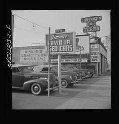 Hollywood, California. Used car lot  http://photogrammar.yale.edu/