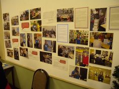 A small photographic display of our volunteers at work