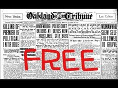 Researching Newspapers for Genealogy Free