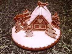 Christmas Cookies, Christmas Ornaments, Meringue Cookies, Gingerbread Houses, Macaroons, Deck, Santa, Holiday Decor, Desserts