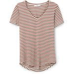 MANGO Striped Bicolor T-Shirt