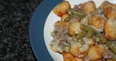 Source: Inspired by Michelle Duggar's Tater Tot Casserole Serves: 4 Ingredients: Tater tots, uncooked Cooked meat (ground beef, groun...