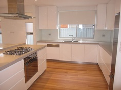 A new kitchen we built and installed in a brand new property.