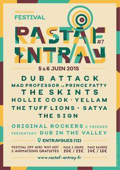Affiche Rastaf'entray Festival 2015 - http://www.anthonymorell.fr/rastaf3.html  #poster #affiche #rastaf #rastaf'entray #festival #reggae